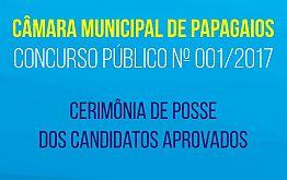 Câmara de Papagaios convida para a posse dos candidatos aprovados em Concurso Público