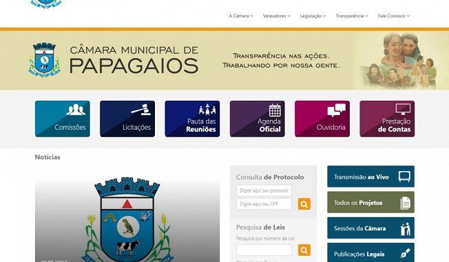Câmara Municipal de Papagaios implanta sistema legislativo e disponibiliza novo site