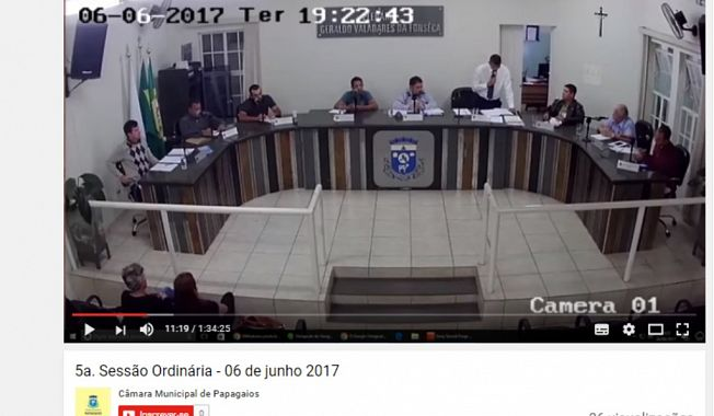 Câmara Municipal de Papagaios realizou a 1ª transmissão ao vivo de uma reunião plenária